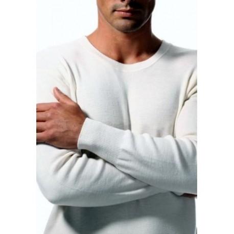 Ragno Uomo Confezione 3 Maglia intima manica lunga 100% Lana
