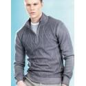 Ragno uomo Maglione Pullover 100% lana rasato