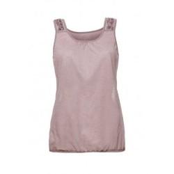 Oroblu T-shirt Maglia scollo tondo senza maniche ricamo pizzo retro
