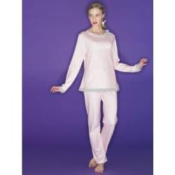 Ragno Donna Pigiama inverno manica pantalone lungo 100% Cotone Interlock