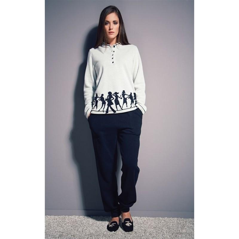 comprare on line fe91e e3e62 Boglietti Pigiama Donna aperto invernale caldo cotone felpato - Paola  Fiorini