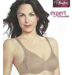 Playtex  Expert in Silhouette underwire minimizer bra with padded shoulders