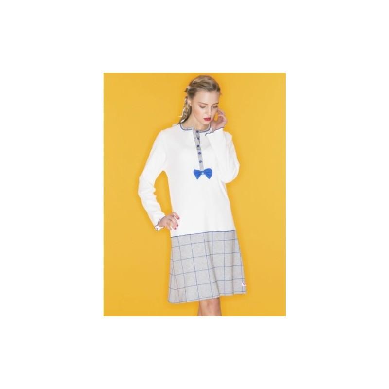 comprare on line c8eb7 581d5 Ragno Donna Inverno Camicia da notte serafino 100% Cotone Interlock - Paola  Fiorini