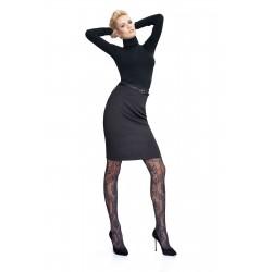 Oroblu Clare Gonna longuette alta ginocchio elastico interno zip punto milano