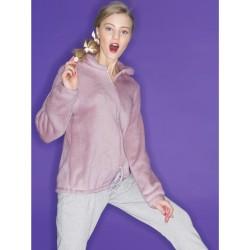 Ragno Donna Pigiama inverno manica pantalone lungo Giacca con cerniera