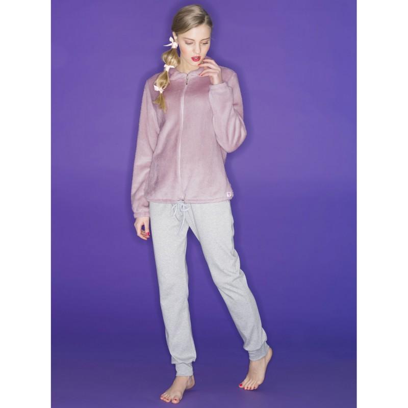 foto ufficiali 1275c cc3a4 Ragno Donna Pigiama inverno manica pantalone lungo Giacca con cerniera -  Paola Fiorini