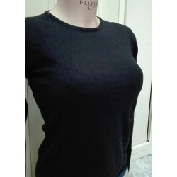Ragno Donna Maglione donna manica lunga perline seta kashmir angora viscosa