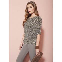 Oroblu Amie Animal prints Blouse 3/4 sleeve