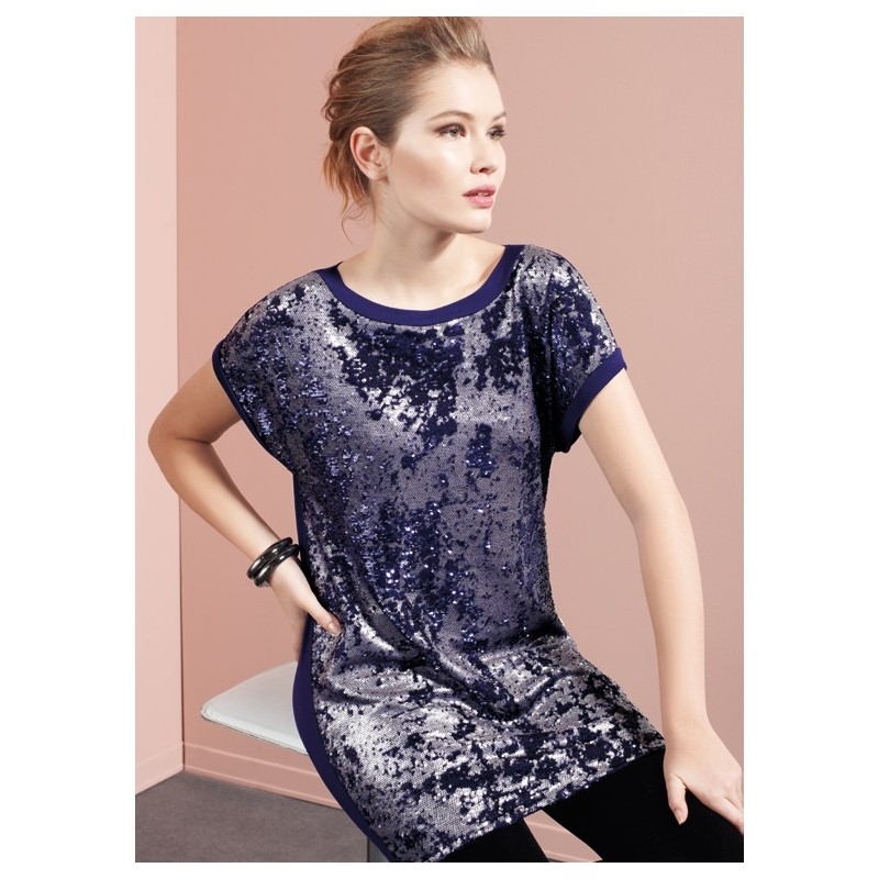 add74970db82 Oroblu Stardust Mini dress short sleeve - Paola Fiorini