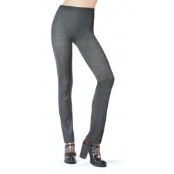 Oroblu Ambition Pantalone tessuto filo di lurex oro