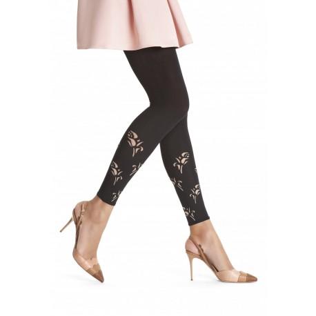 Oroblu Ianira Leggings microfibra coprente decoro strass borchie glam caviglia