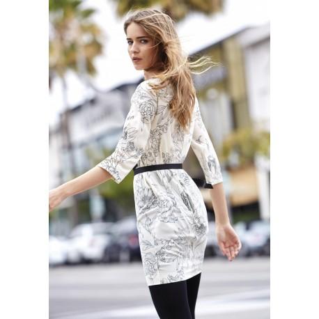 Oroblu Faye Vestito abito manica 3/4 foulard