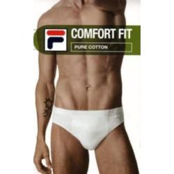 Fila 4 Slip Uomo Comfort Fit 100% Puro Cotone elasticizzato