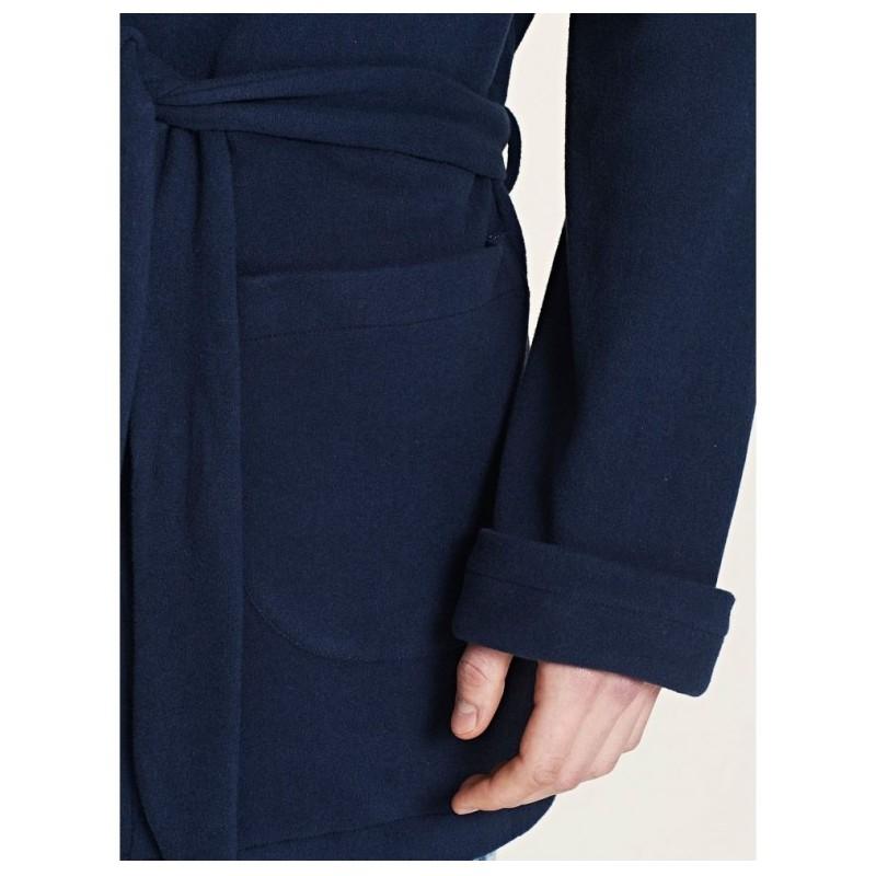 Ragno Uomo Giacca da camera vestaglia corta cinturino tasche 100% cotone Paola Fiorini