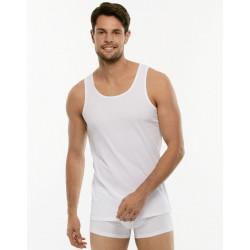 Lovable Man 2 Canotte spalla larga maglia intima uomo 100% cotone