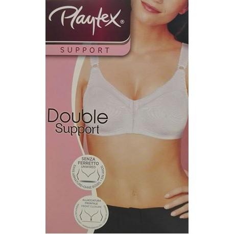 Playtex Double Support Reggiseno senza ferretto allaccio frontale