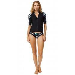 Moontide Piha Costume maglietta maniche 3/4 zip surf rashguard