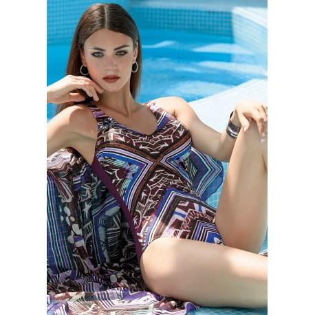 Renata Malè Solosole Costume intero incrociato coppe morbide foderato