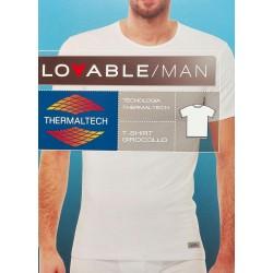 Lovable Man 2 Canotte manica corta maglia intima uomo cotone termico