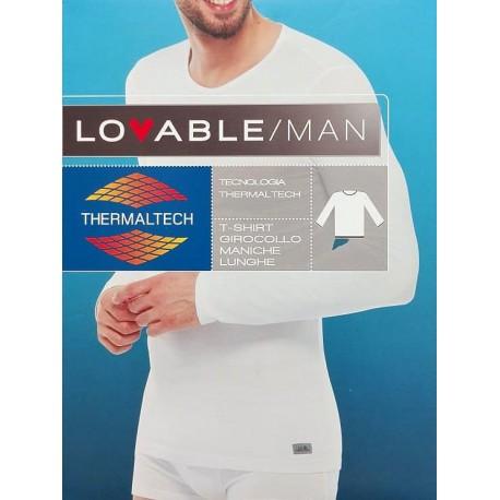 Lovable Man 2 Canotte manica lunga maglia intima uomo cotone termico