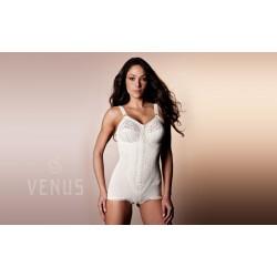 Venus Alba Zip Shapewear Bodysuit Firm Support