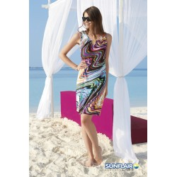 Sunflair Tropical Dream Women's Multicolour Floral Beach Dress