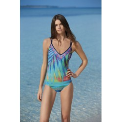Sunflair Tropical Dream Costume da bagno donna intero scollo a V coppa morbida