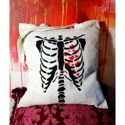 Robine Artistic Clothing Handmade painted Shopper bag 100% Cotton