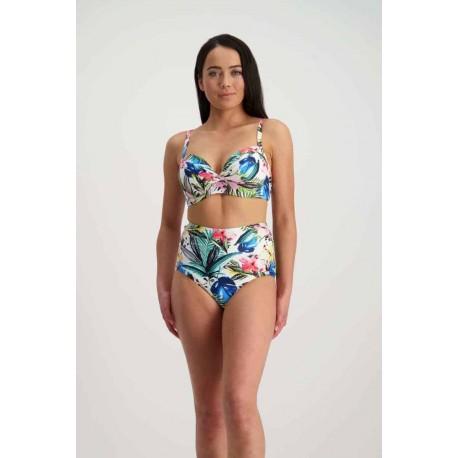 Moontide Pop Indigo Costume da bagno Bikini a fascia slip alto vintage