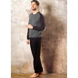 Linclalor Man Long cotton pajamas