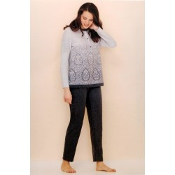 Linclalor Woman Long seraph pile cotton pajamas