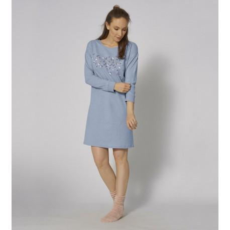 Triumph Timeless Cotton Donna camicia da notte aperta con bottoni