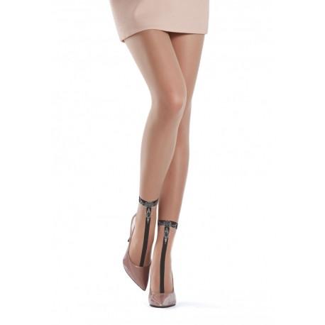 Oroblu Valentine Collant Velato applicazioni strass caviglia