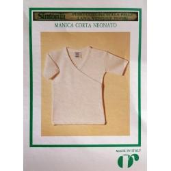 Ragno junior Maglia intima canottiera manica corta neonato unisex lana e cotone