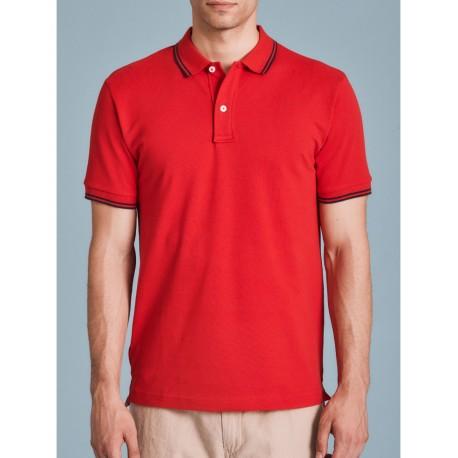Ragno Uomo Tshirt Polo in cotone biologico stretch