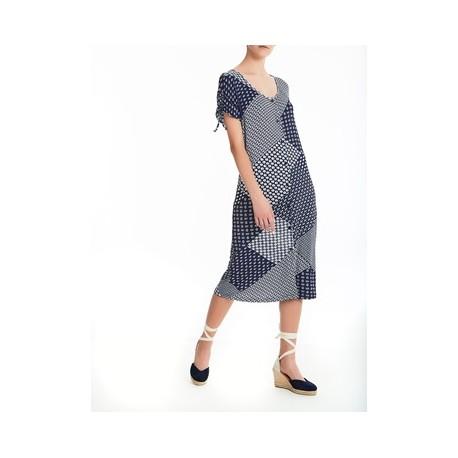 Ragno short sleeves viscose dress