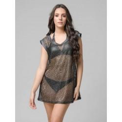 Luna Glamor short fishnet dress