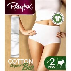 Playtex 2 pack organic bio cotton high leg brief
